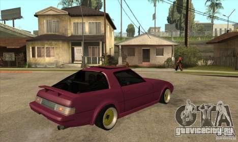 Mazda RX7 SA22C для GTA San Andreas вид справа