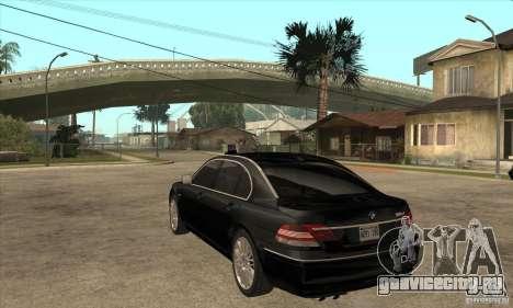 BMW 760Li (e66) SE для GTA San Andreas вид сзади слева