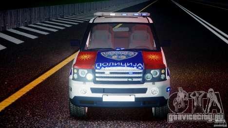 Range Rover Macedonian Police [ELS] для GTA 4 салон