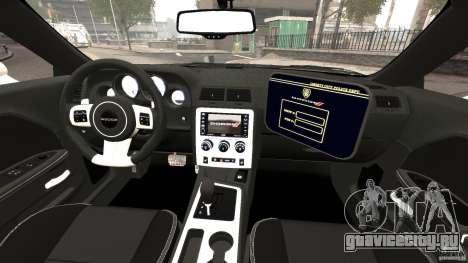 Dodge Challenger SRT8 392 2012 Police [ELS][EPM] для GTA 4 вид сзади