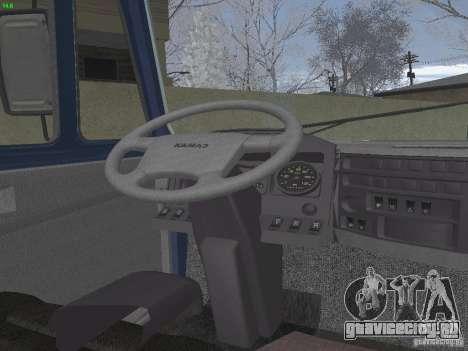 КамАЗ 5460 Sport для GTA San Andreas вид изнутри