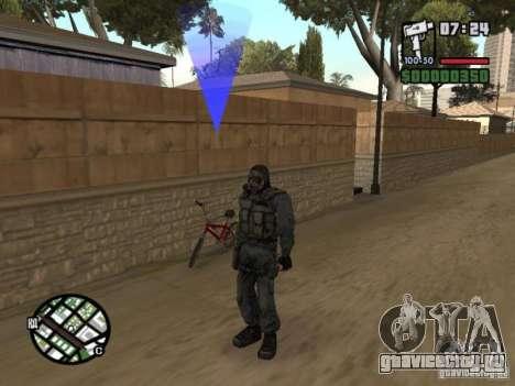 Сталкер наёмник в противогазе для GTA San Andreas