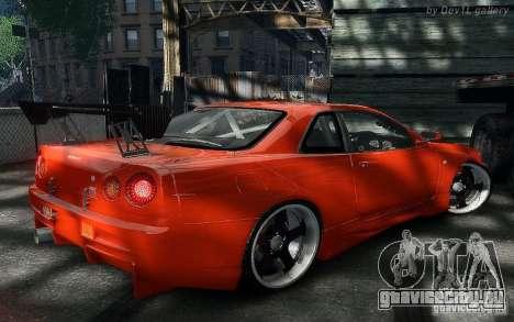 Nissan SkyLine BNR34 для GTA 4 вид справа