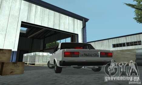 Vaz 2107 Stock v.2 для GTA San Andreas вид сзади слева