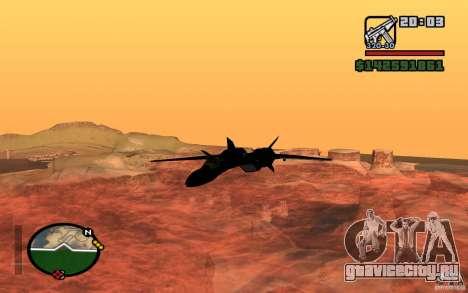 Y-f19 macross Fighter для GTA San Andreas вид слева