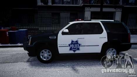 Cadillac Escalade Police V2.0 Final для GTA 4 вид слева