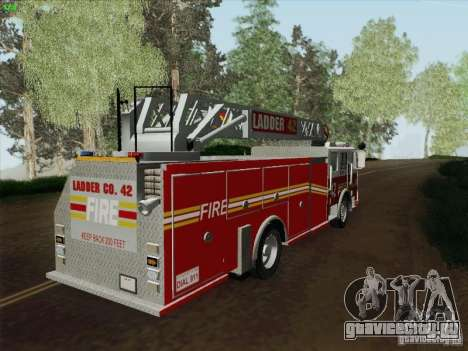 Seagrave Ladder 42 для GTA San Andreas вид слева