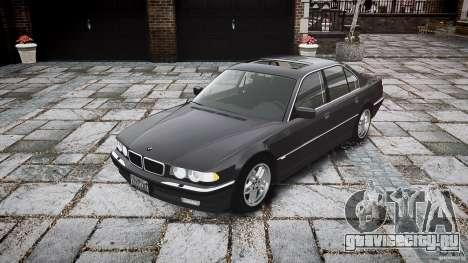 BMW 740i (E38) style 37 для GTA 4 вид сзади