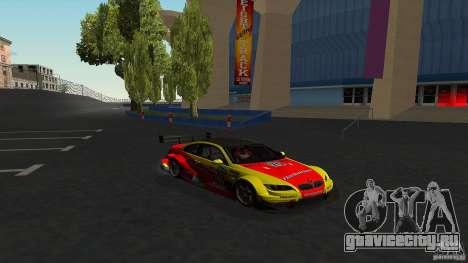 BMW E92 M3 для GTA San Andreas вид изнутри