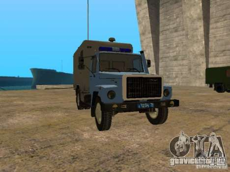 ГАЗ 3309 Автозак для GTA San Andreas вид слева