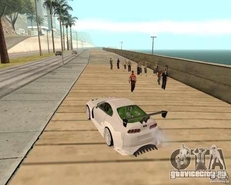 Toyota Supra TwinTurbo для GTA San Andreas вид сзади