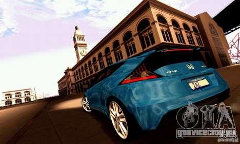 Honda CR-Z 2010 V2.0 для GTA San Andreas вид сбоку