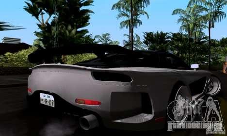 Mazda RX-7 для GTA San Andreas вид снизу