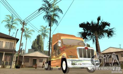 Peterbilt 387 скин 3 для GTA San Andreas вид изнутри