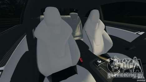 Audi S5 для GTA 4 вид изнутри