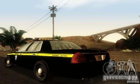 Ford Crown Victoria Montana Police для GTA San Andreas вид слева