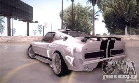 Shelby GT500 для GTA San Andreas вид сзади слева