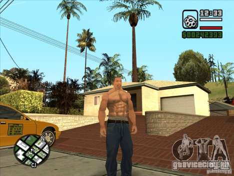 Белый Cj для GTA San Andreas третий скриншот