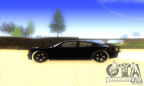 Dodge Charger From Fast Five для GTA San Andreas вид сзади слева
