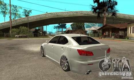 Lexus IS F 2009 для GTA San Andreas вид справа