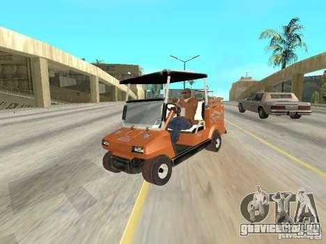 Golfcart caddy для GTA San Andreas вид сзади