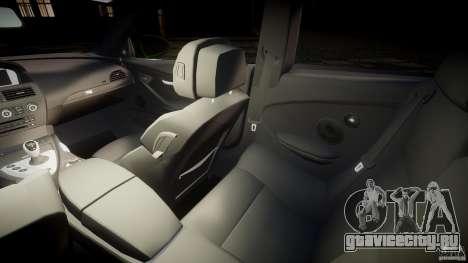 BMW M6 2010 v1.0 для GTA 4 вид изнутри