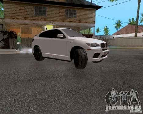 BMW X6 для GTA San Andreas вид сзади