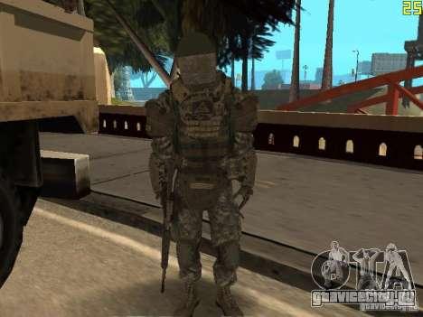 Боевой солдат из CoD:Mw2 для GTA San Andreas шестой скриншот
