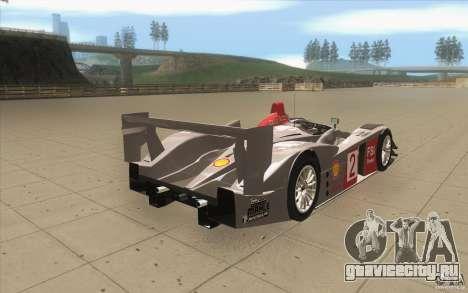 Audi R10 LeMans - Stock для GTA San Andreas вид сбоку