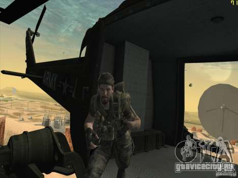 Вертолёт huey из call of duty black ops для GTA San Andreas вид сбоку