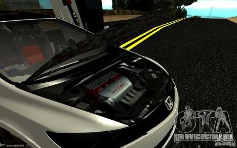 Honda Civic Type R для GTA San Andreas вид снизу