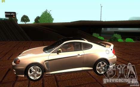 Hyundai Tiburon V6 Coupe 2003 для GTA San Andreas вид слева