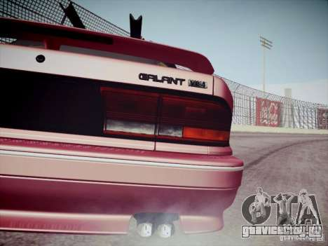 Mitsubishi Galant 1992 JDM для GTA San Andreas вид сзади