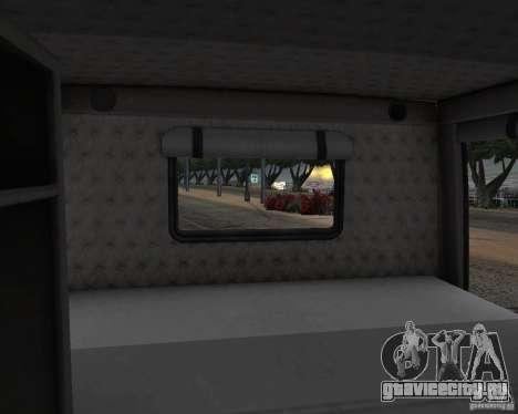 Western Star 4900 EX для GTA San Andreas вид изнутри