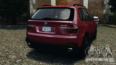 BMW X5 xDrive30i для GTA 4 вид сзади слева