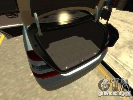 Mercedes-Benz W221 S500 для GTA 4 двигатель
