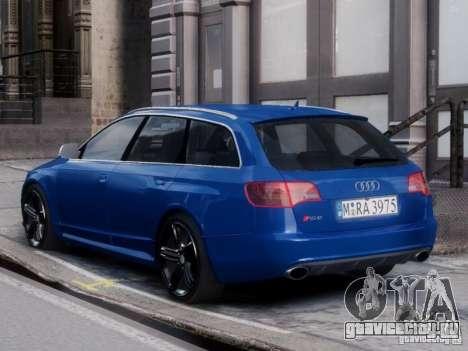 Audi RS6 Avant для GTA 4 вид слева