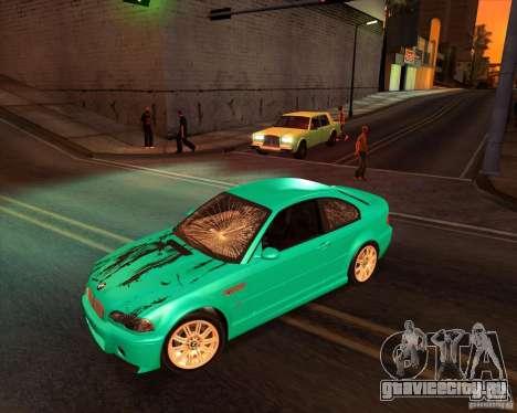 BMW M3 E46 stock для GTA San Andreas вид сзади слева