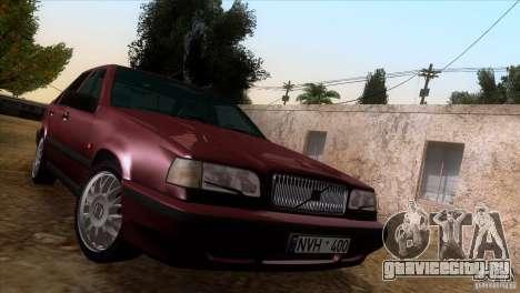 Volvo 850 Final Version для GTA San Andreas вид изнутри