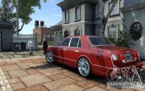 Bentley Arnage T для GTA 4 вид сзади слева