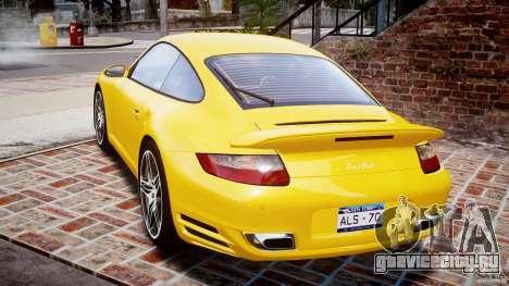 Porsche 911 (997) Turbo v1.0 для GTA 4 вид сзади слева