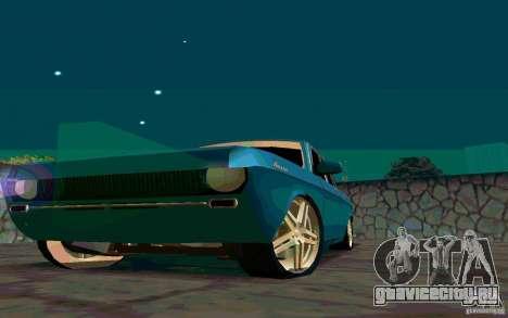 ГАЗ 24 v1.0 для GTA San Andreas вид изнутри