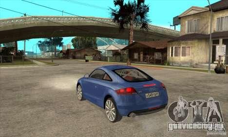 Audi TT 2007 для GTA San Andreas вид справа