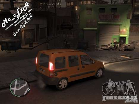 Renault Kangoo 2007 для GTA 4 вид сбоку