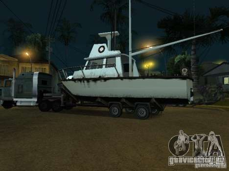 Прицеп для лодок для GTA San Andreas вид сзади слева