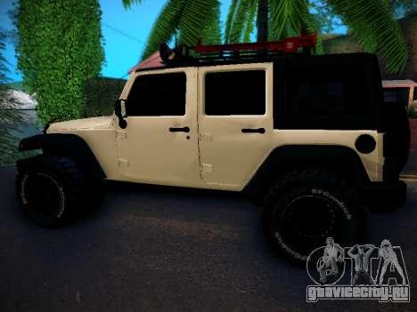 Jeep Wrangler 4x4 для GTA San Andreas вид слева