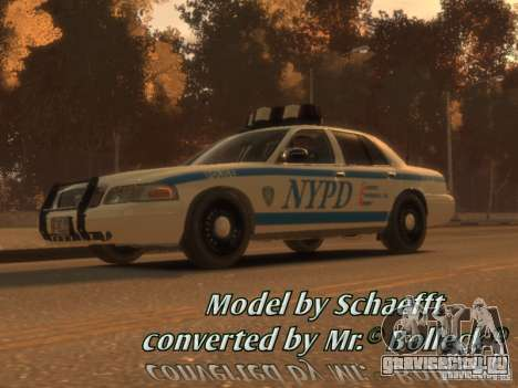 Ford Crown Victoria Police для GTA 4