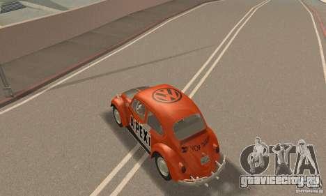 Volkswagen Beetle 1963 для GTA San Andreas двигатель