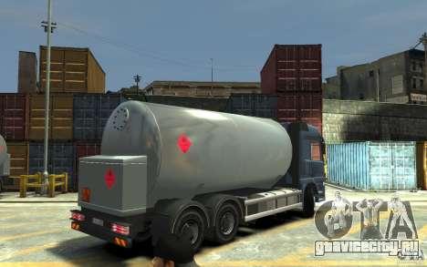 Mercedes Benz Actros Gas Tanker для GTA 4 вид справа