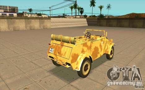 Kuebelwagen v2.0 desert для GTA San Andreas вид сзади слева